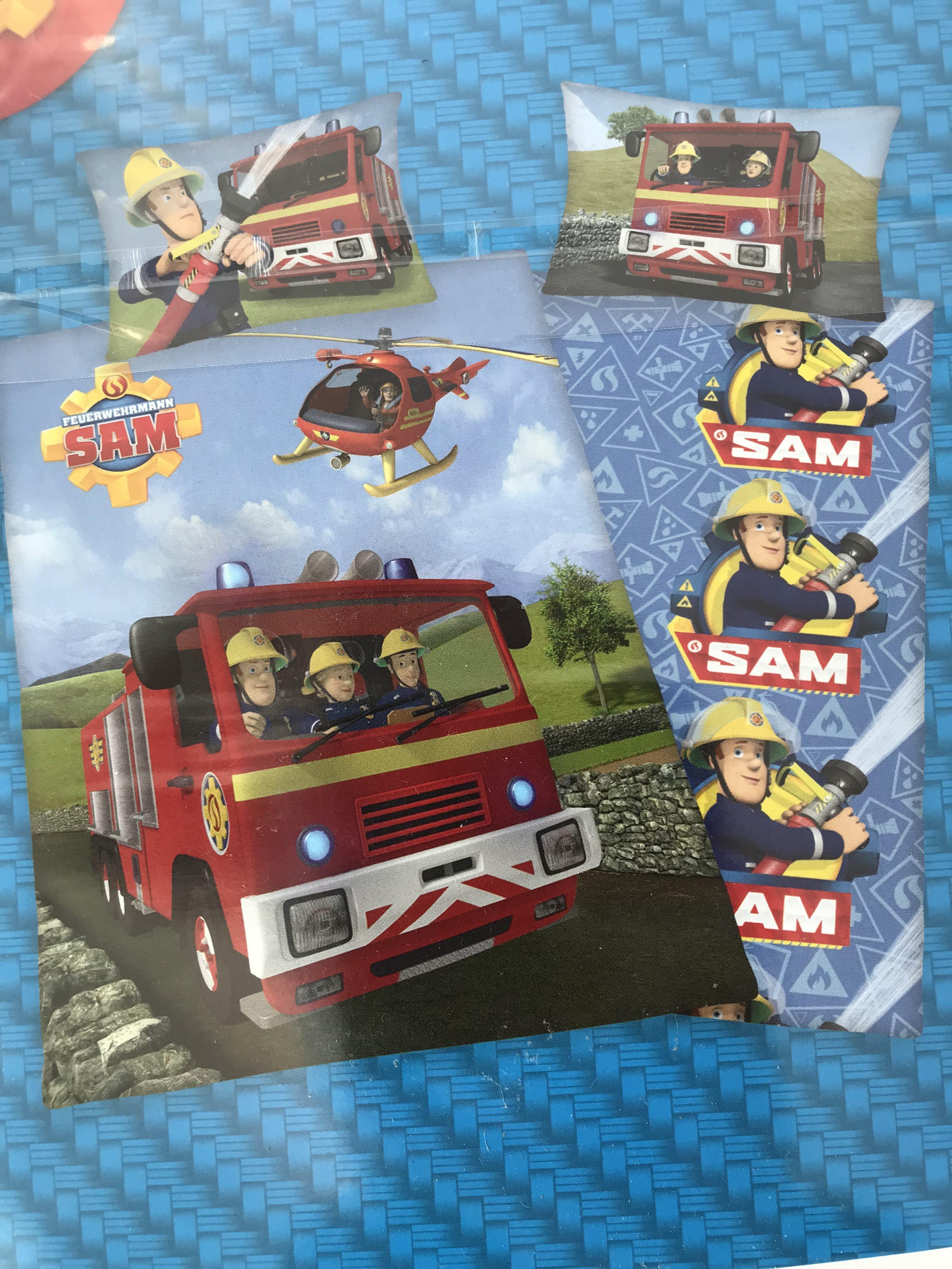 Feuerwehrmann Sam Bettwäsche, 160 x 210 cm